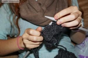 Camille tricote